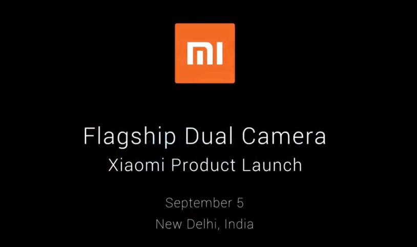 Xiaomi Dual Camera Phone launch India Sep 5