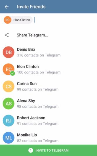 telegram invite