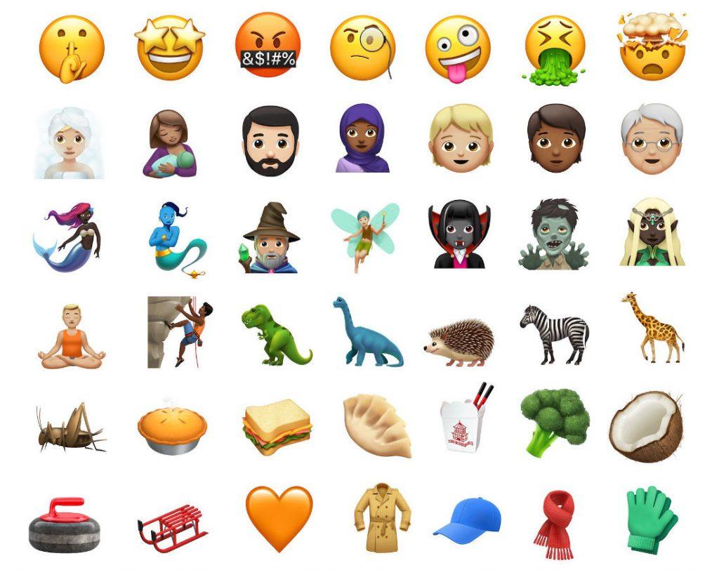 Apple iOS 11.1 Emojis