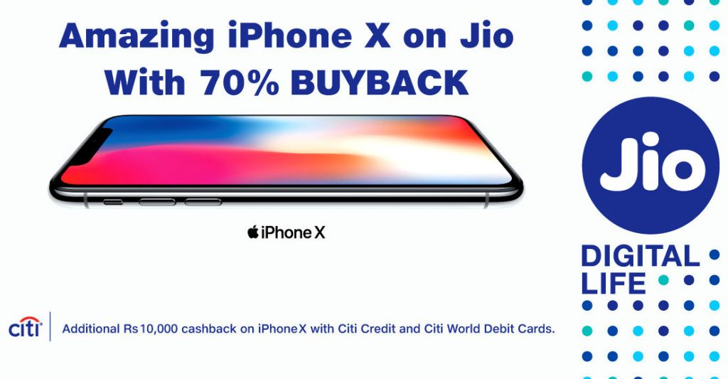 Apple iPhone X Reliance Jio Buyback offer