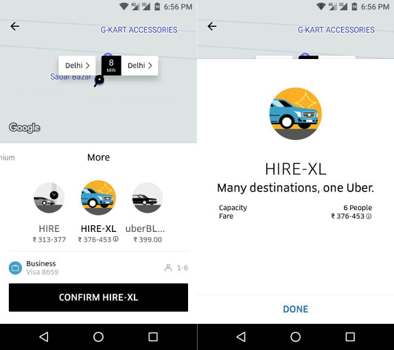 Uber launches UberHIRE XL in Delhi, lets you hire 6-seater SUVs