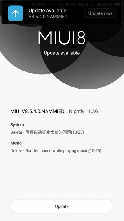 Xiaomi Redmi 4 Android 7.1.1 MIUI 8.5.4.0.NAMMIED