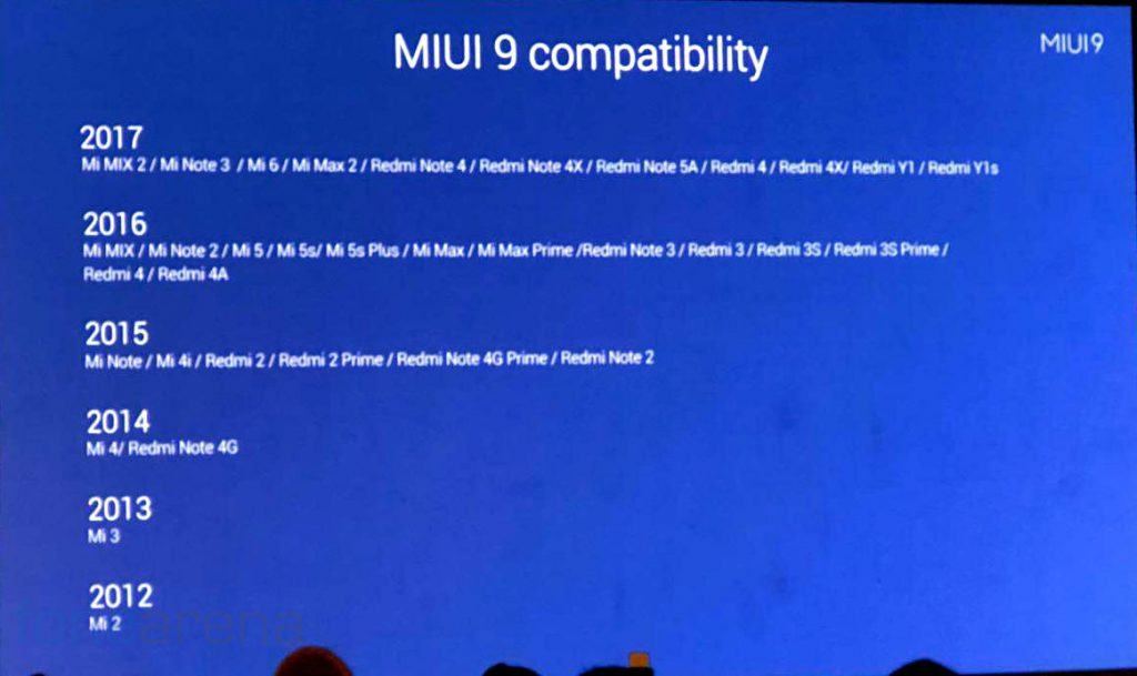 MIUI 9 Stable ROM coming in November – List of Xiaomi