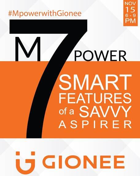 Gionee M7 Power India launch invite