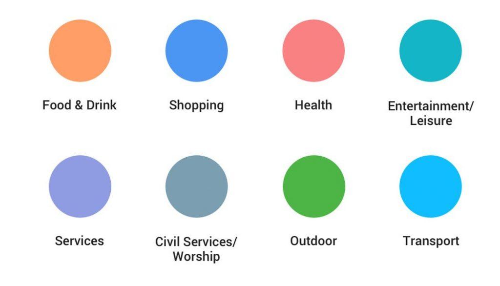 Google Maps POI color