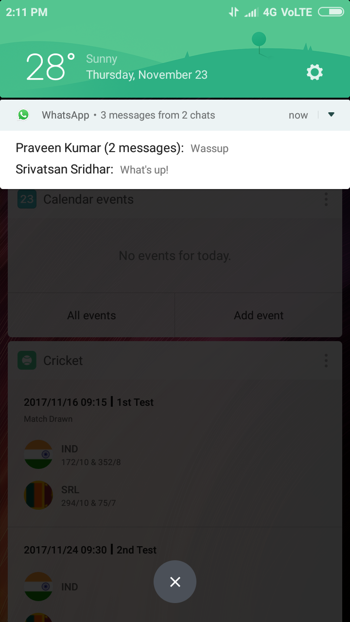 MIUI 9 brings new Notification Shade with Bundled Notifications and
