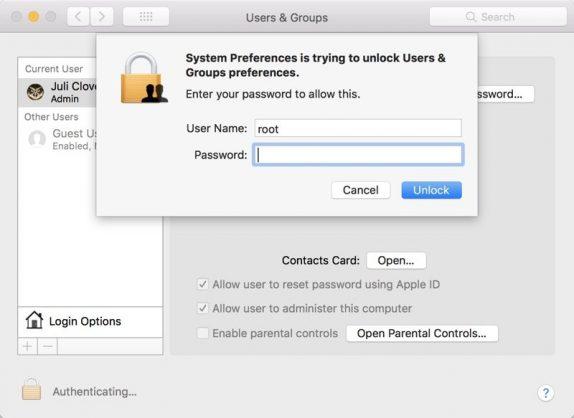 Mac OS Flaw