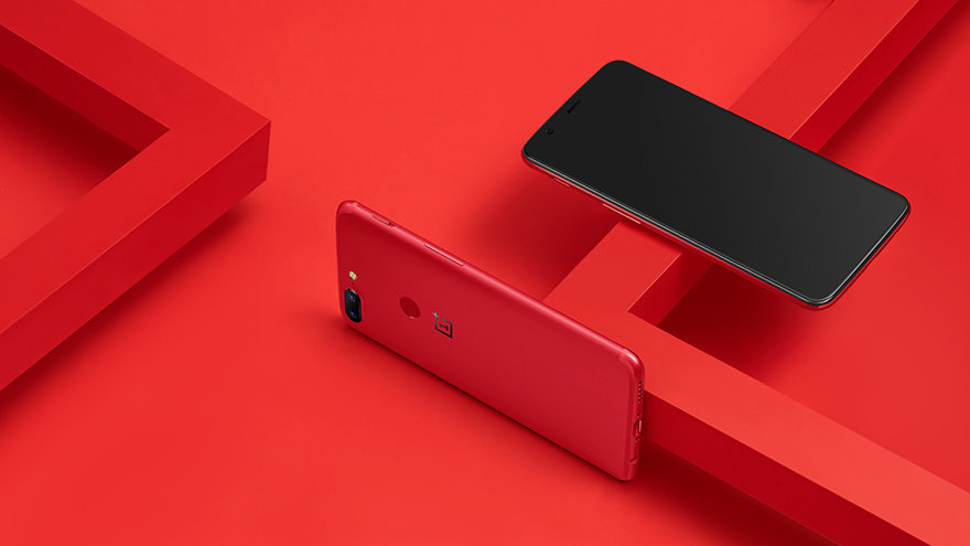 Red OnePlus 5T