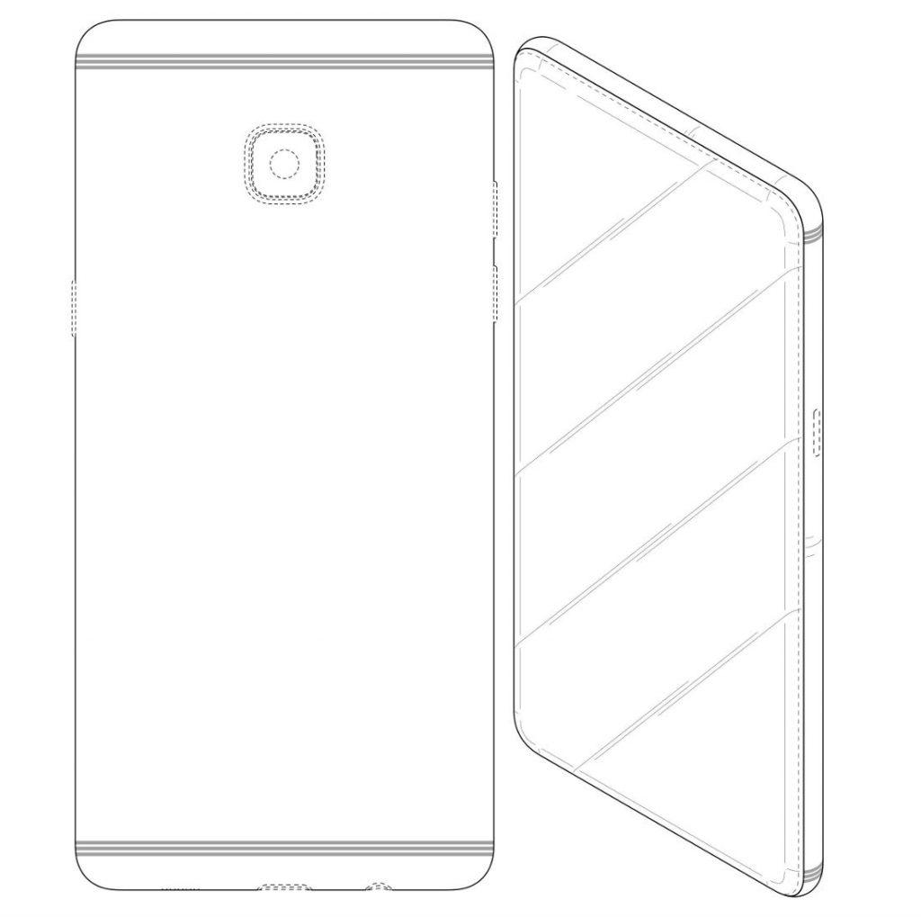 Samsung bezel-less phone patent