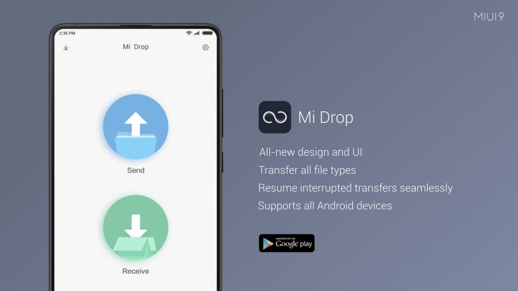 Xiaomi Mi Drop – Transfer files between Android phones and PC