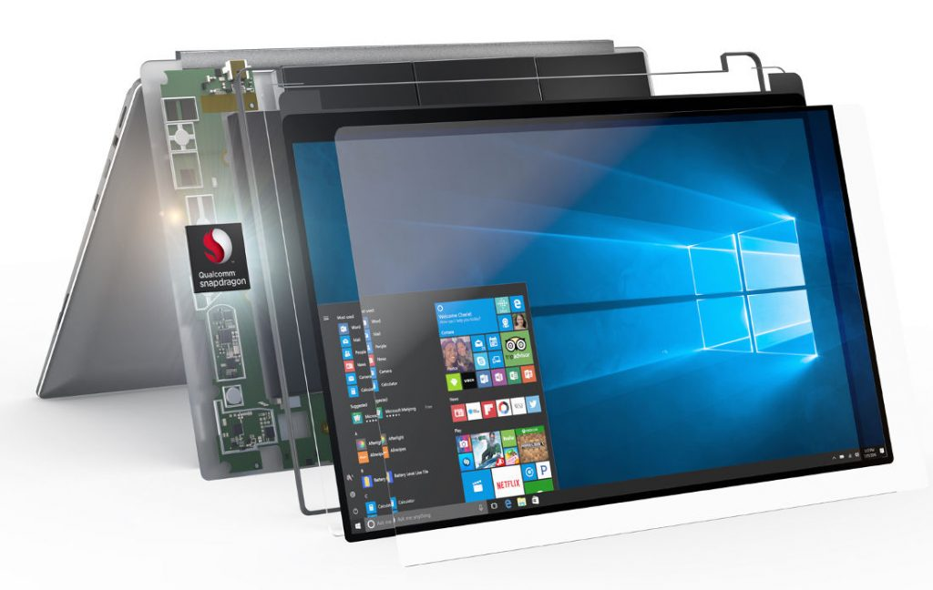 Snapdragon 835 WIndows 10 Always Connected PC