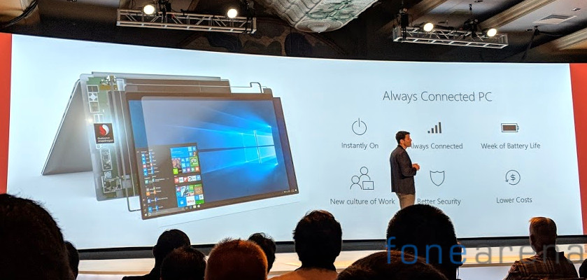 Snapdragon WIndows 10 Always Connected PC