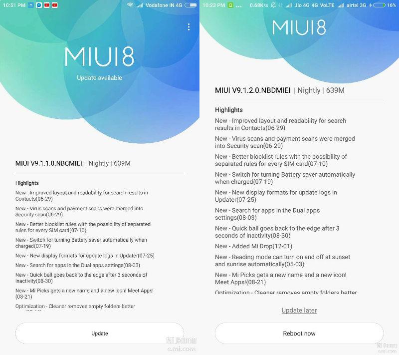 Xiaomi Mi Max and Mi Max Prime MIUI 9