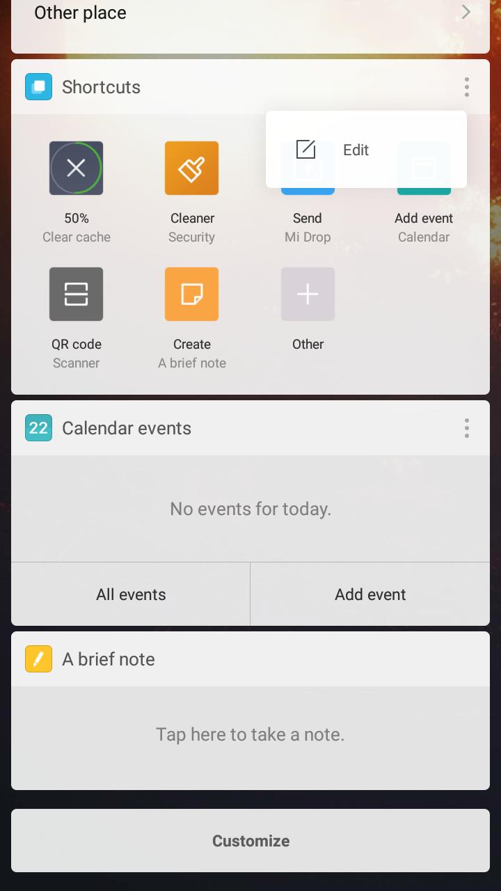 MIUI App Vault Overview – Shortcuts, Cricket, Calendar