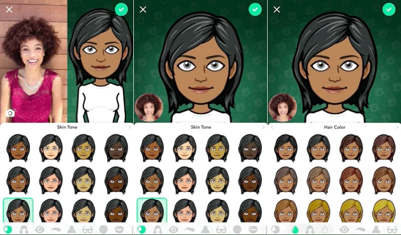 Snapchat gets Bitmoji Deluxe with new skin tones, facial