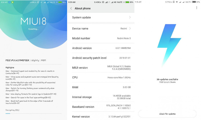 Xiaomi Redmi Note 3 MIUI 9 2 update starts rolling out