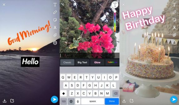 Snapchat lets you create custom face lenses, gets new text