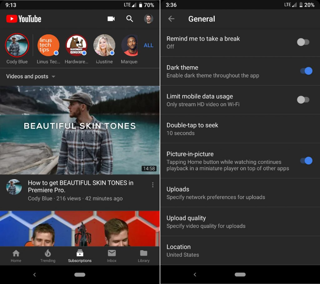 YouTube for iOS gets Dark Theme, coming to Android soon [Update