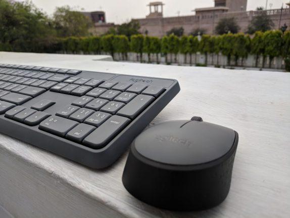 Logitech MK235 Wireless Hindi Keyboard Combo