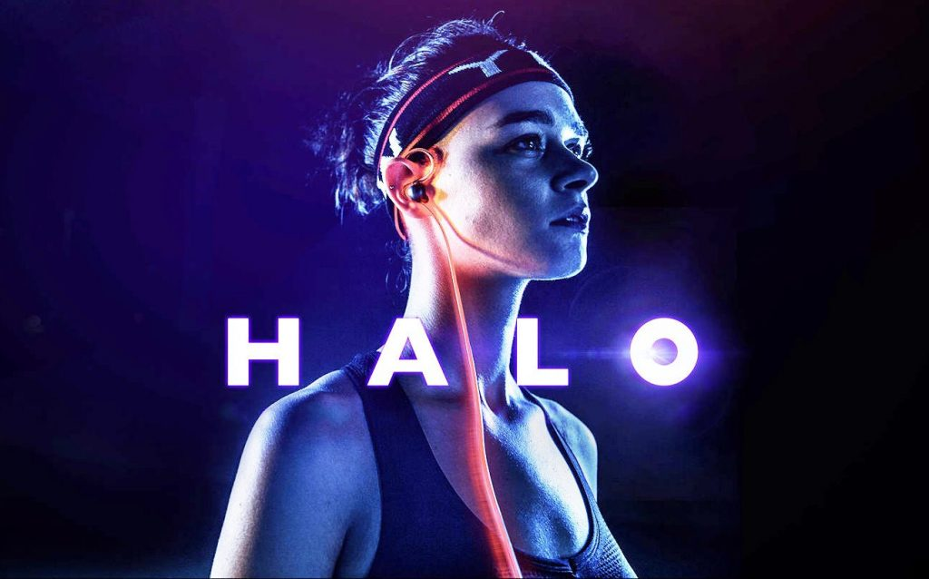 6d954931b44 Meizu HALO Bluetooth headset with glowing laser light and POP Bluetooth  water-resistant earbuds announced