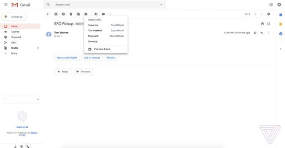 Redesigned Gmail