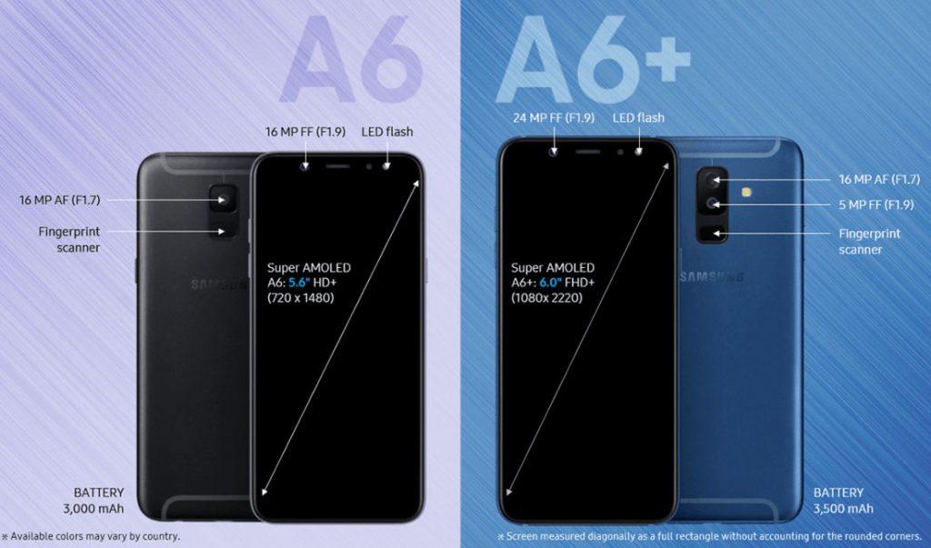 Samsung Galaxy A6 With 5 6 Inch Super Amoled Display