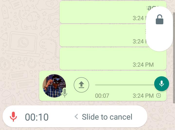 WhatsApp Lock recording