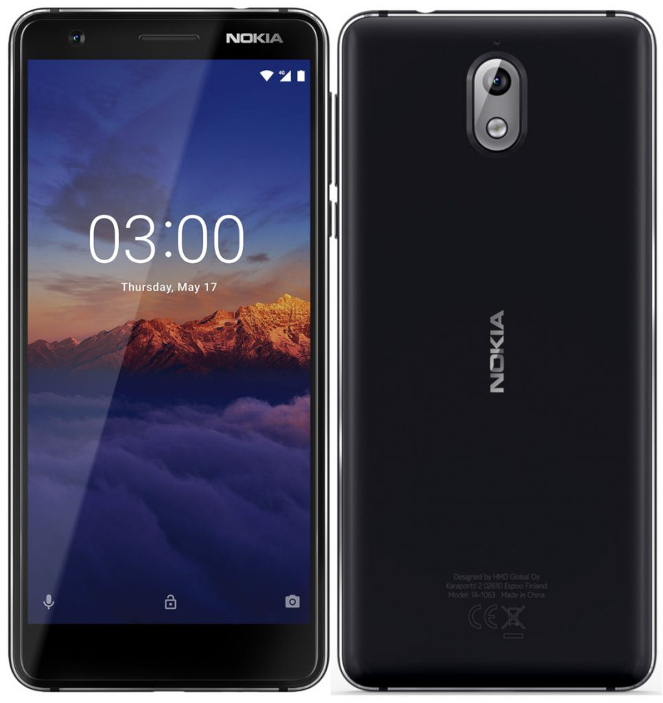 Nokia 3 1 Android One smartphone with 5 2-inch HD+ 18:9