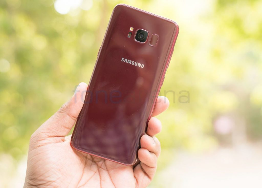 Samsung Galaxy S8 Burgundy Red Photo Gallery