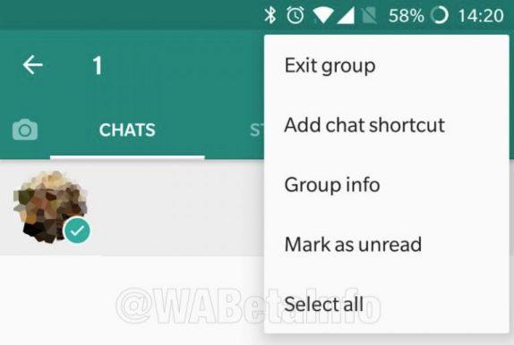 WhatsApp select all
