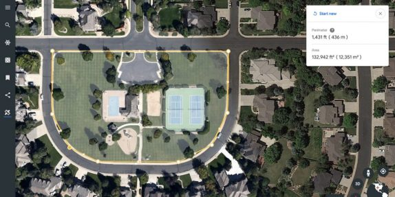 Google Earth Measure Tool