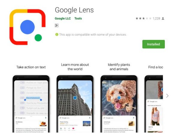 Google Lens is now available as a standalone app on the Play