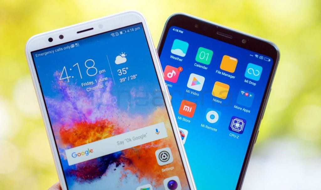 Honor 7C vs Xiaomi Redmi Note 5 Comparison