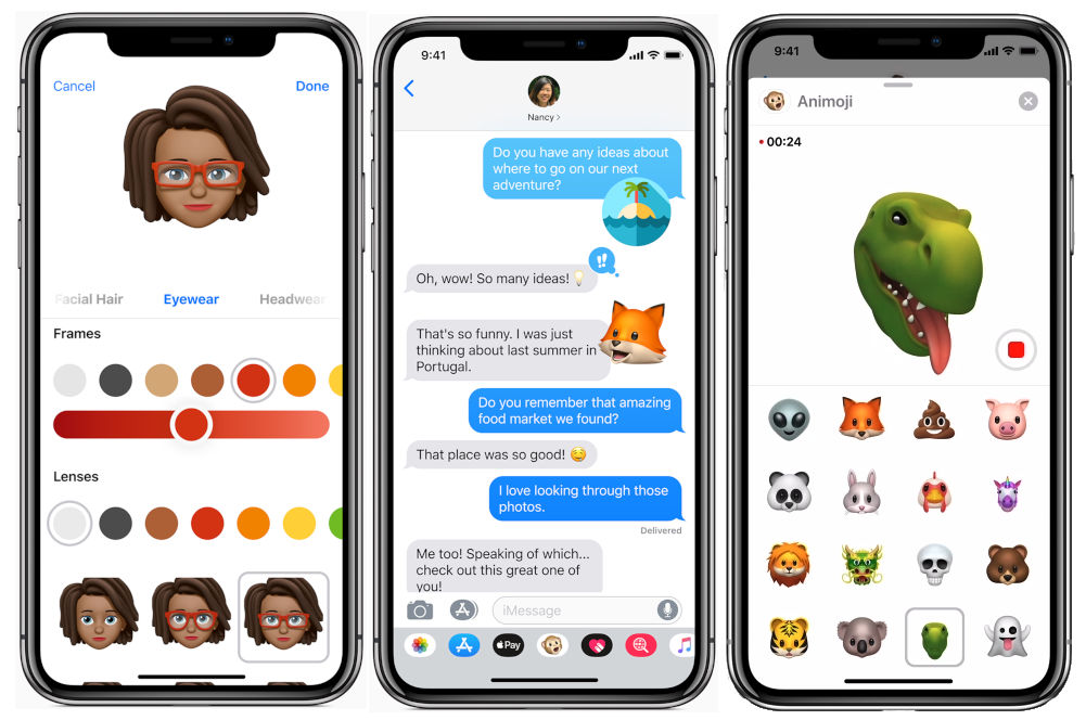 iOS 12 Memoji and new Animoji