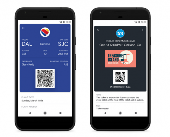 Google Pay save ticket
