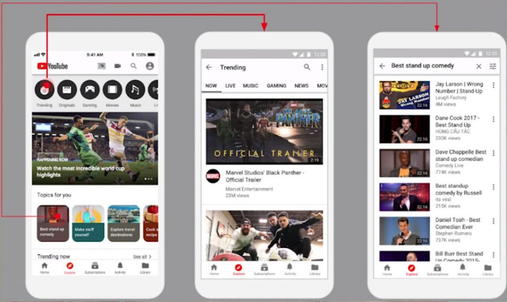 YouTube starts testing New Explore tab on iOS [Update: Being