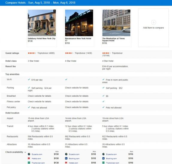 Bing Intelligent Search brings improvements to hotel booking, home services price range and more