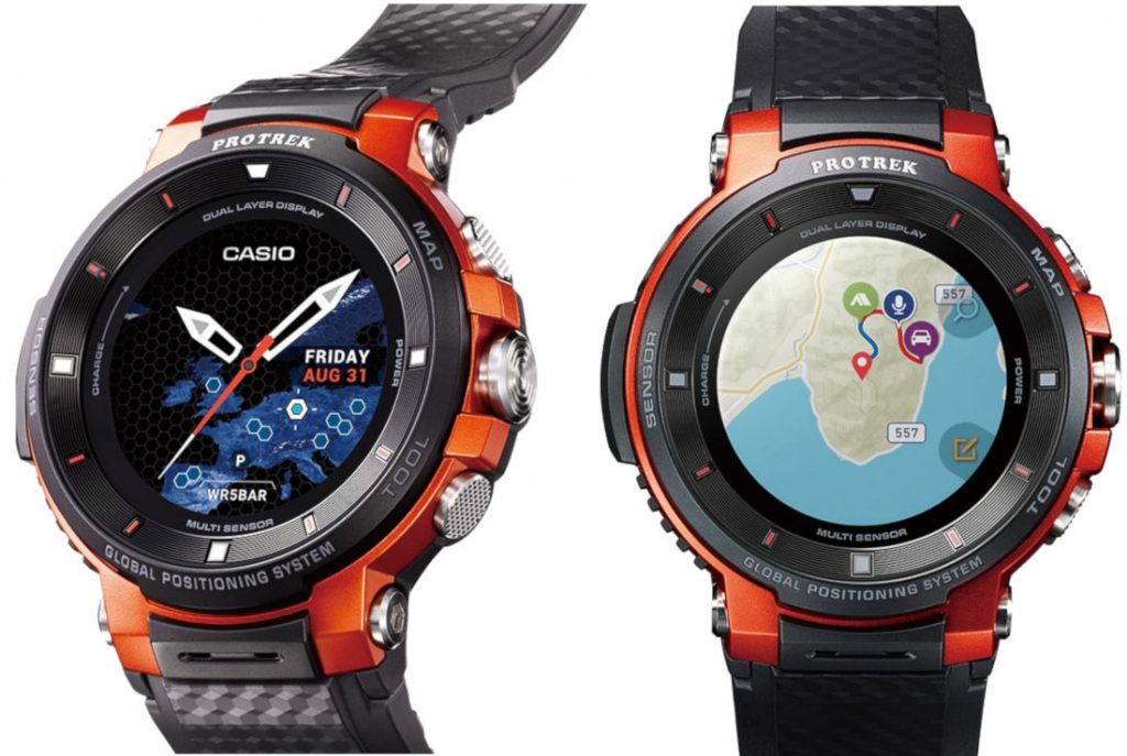 Casio Pro Trek Smart Wsd F 30 Rugged Wear Os Outdoor Watch With Gps