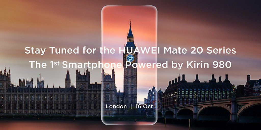 Huawei Mate 20 and Mate 20 Pro with full-screen display, Kirin 980 7nm SoC to be announced on October 16