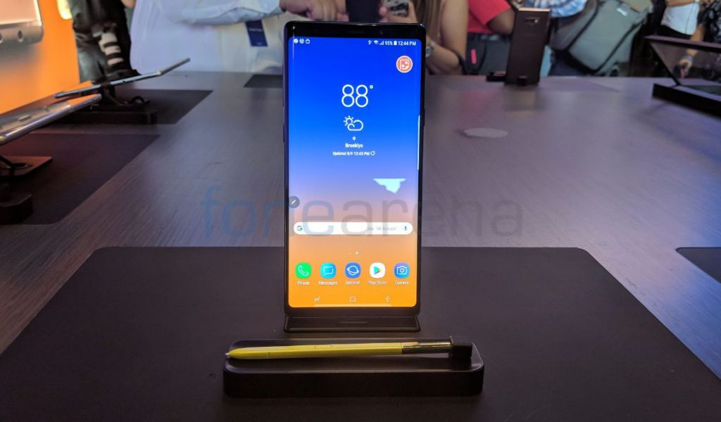 Samsung Galaxy Note 9 Android 9 0 Pie update said to roll out from