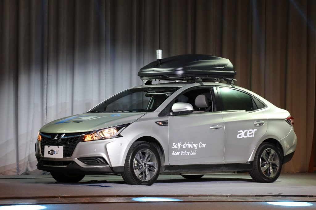 Acer self-driving concept car with Luxgen S3 electric vehicle platform unveiled