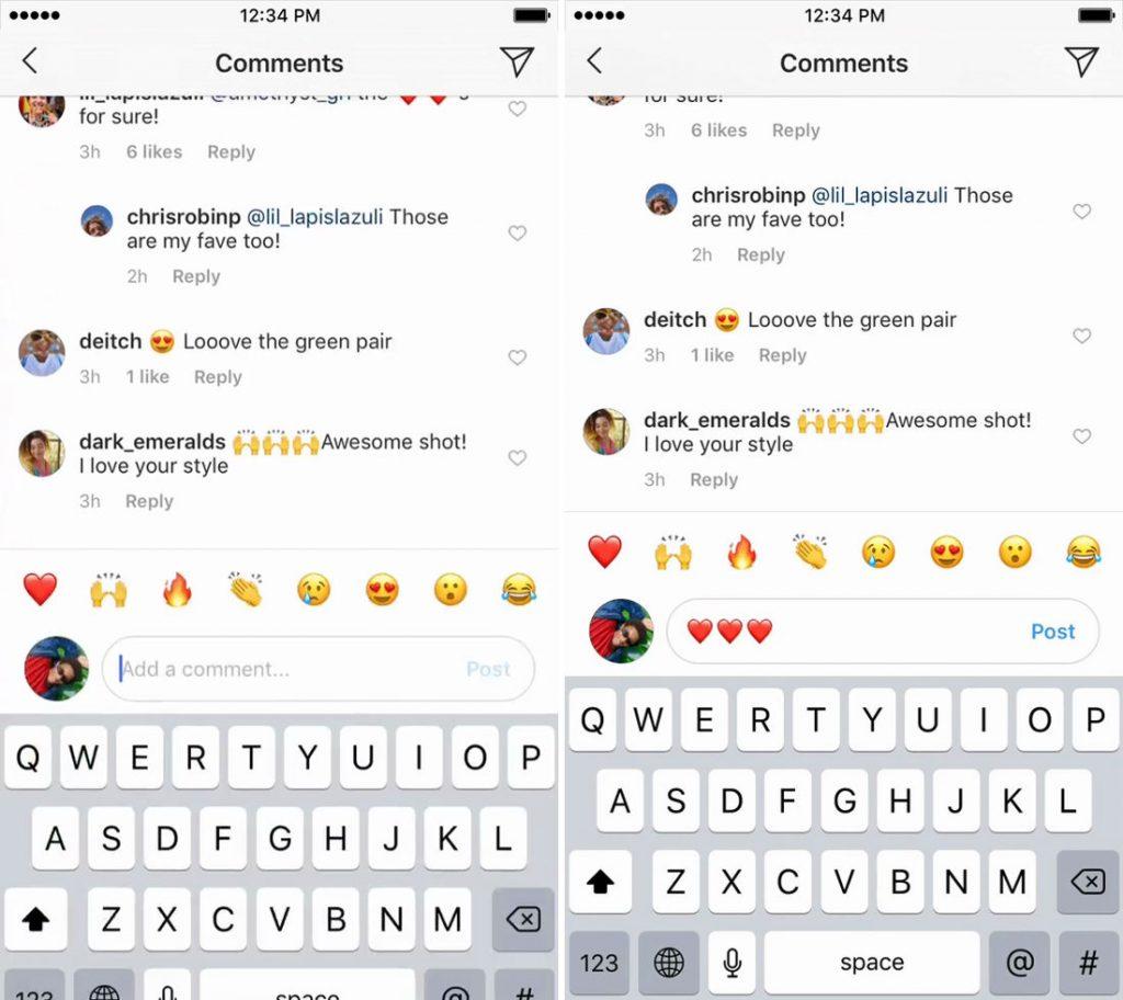 how to use emoji on instagram