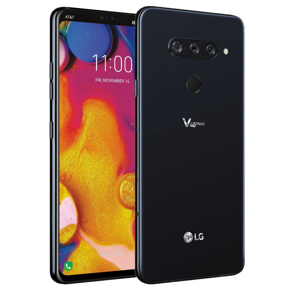 Lg V40 Thinq With Triple Rear Cameras Dual Front Cameras Surface In
