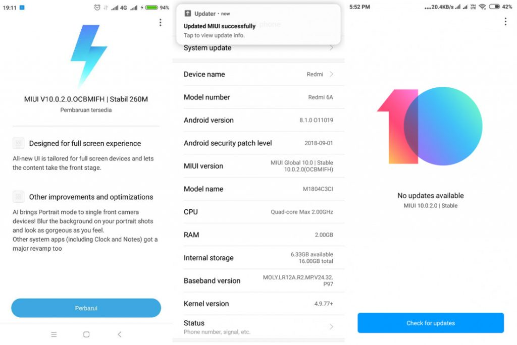 Xiaomi Redmi 6 and Redmi 6A MIUI 10 Stable update starts rolling out