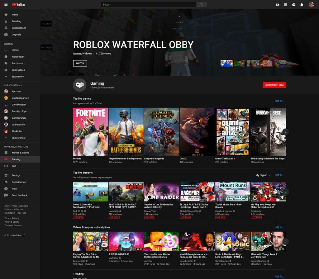Youtube Website Home