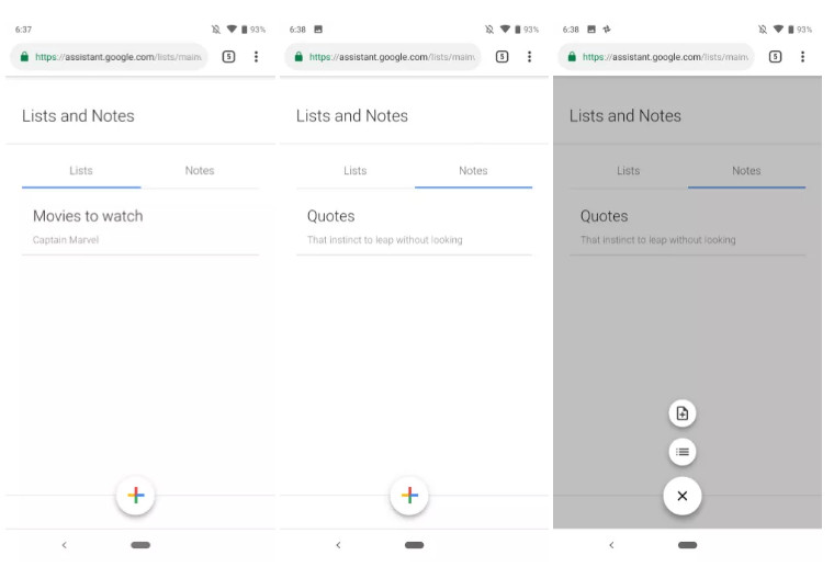 Google Assistant may get new dedicated 'List and Notes' web app