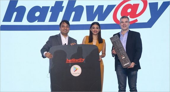 Hathway Android TV-based OTT set-top box and cable hybrid