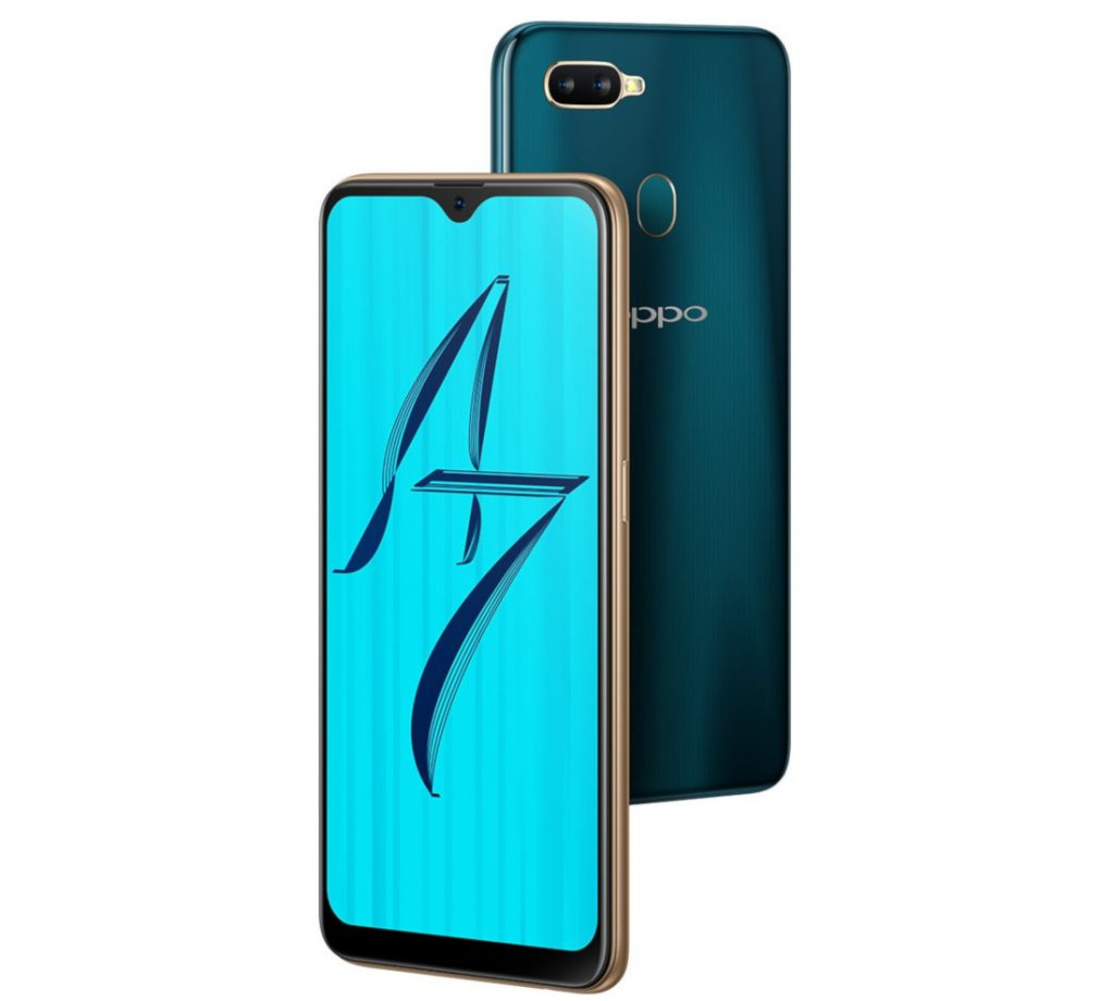 OPPO A7 with 6.2-inch waterdrop notch display, dual rear cameras, 4230mAh battery launched in India for Rs. 16990