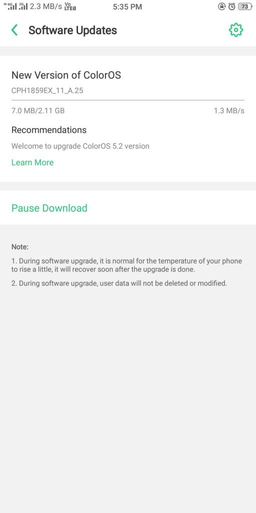 Realme 1 ColorOS 5 2 stable OTA update with Smart Bar, Game Space