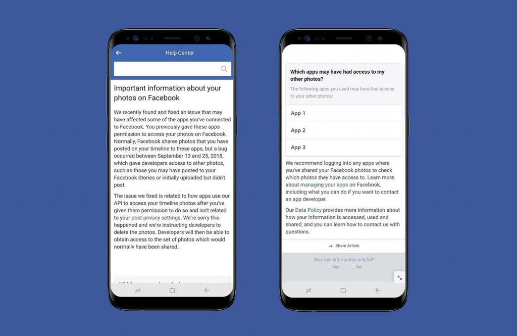 Facebook API bug allowed apps to access unposted photos of up to 6.8 million users